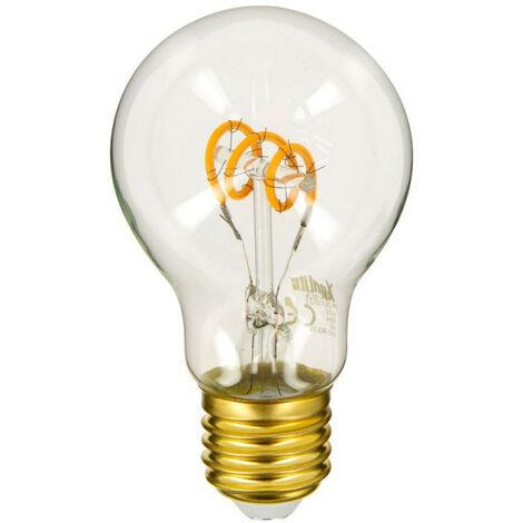 Ampoule LED (A60) / Vintage, culot E27, 4W cons. (18W eq.), 180 lumens, lumière blanc chaud | Xanlite