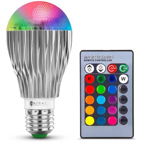 Ampoule Led Avec Télécommande Ampoule Multicolore E27 16 Couleurs 5 W 210 Lumen