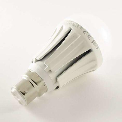 Ampoule LED B22 10W 850lm Ronde A60   Blanc Chaud (2700K)