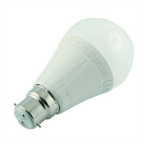 Ampoule led B22 12 watt (eq. 75 watt) - Couleur - Blanc chaud 3000°K