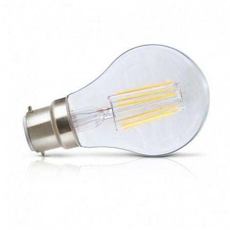Ampoule LED B22 Filament Bulb claire blanc chaud 8W (55W) 2700°K