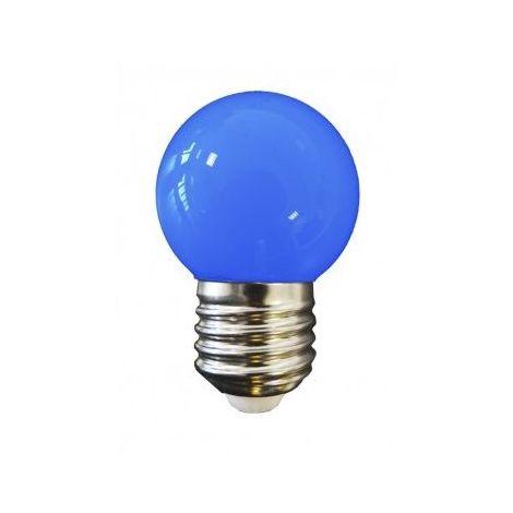 AMPOULE LED BLEUE E27 COULEUR - GROS CULOT - Bleu