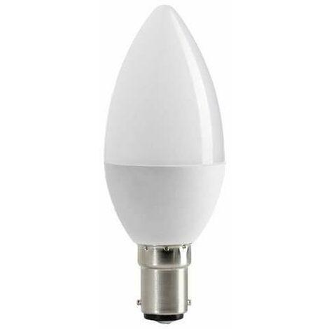 "main image of ""Ampoule LED C37 Type Bougie 6W B15 Blanc Chaud 2700K"""