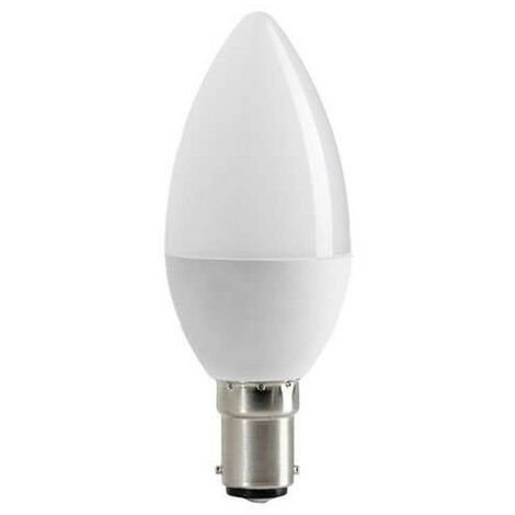 """main image of """"Ampoule LED C37 Type Bougie 6W B15 Blanc Froid 6000K"""""""