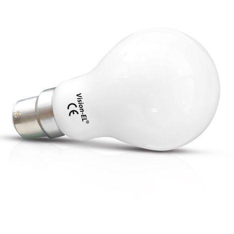 Ampoule LED COB 8W (70W) B22 Blanc chaud 2700°K Bulb dépoli