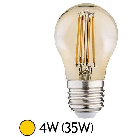 Ampoule LED COB à Filament 4W (35W) E27 Blanc chaud 2700°K Ø45 Dorée