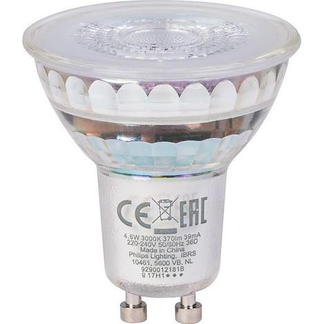 Ampoule LED CorePro LEDspot 4.6-50W GU10 830 36D - Philips