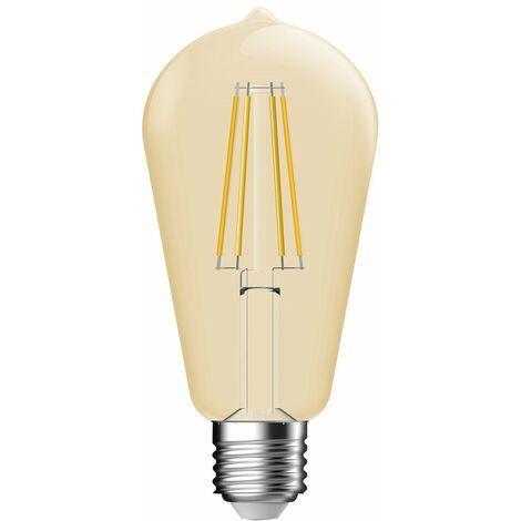 Ampoule led decorative ambree a filament edison e27 7 / 51 660
