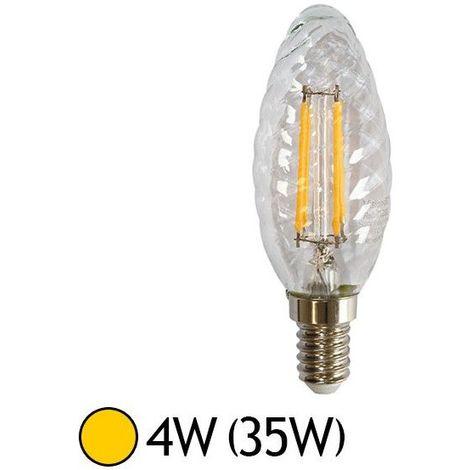 Filament E14 Option 4w Led Torsadéedimmable Ampoule En Cob Flamme Aj4L3Rq5