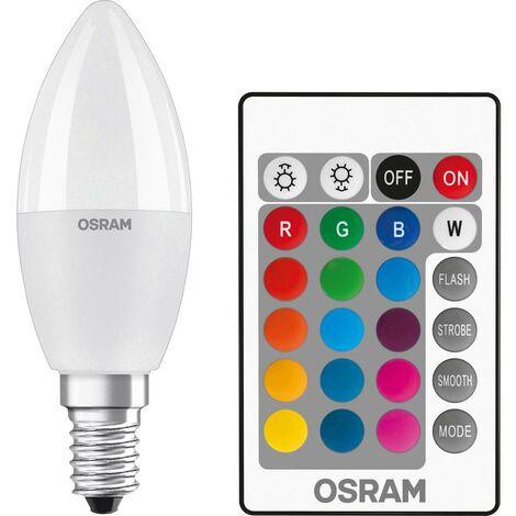 Ampoule LED E14 OSRAM 4058075144309 5.5 W = 40 W RVBB (Ø x L) 37 mm x 107 mm 1 pc(s)
