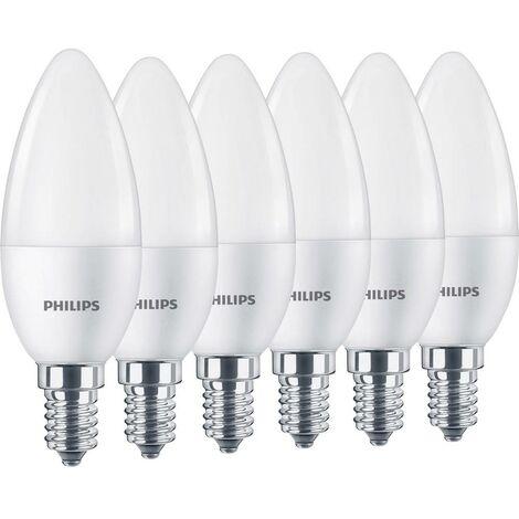 Ampoule LED E14 Philips Lighting 82991200 5.5 W = 40 W blanc chaud (Ø x L) 35 mm x 108 mm 6 pc(s)