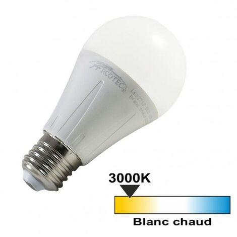 Ampoule led E27 12 watt (eq. 75 watt) - Couleur - Blanc chaud 3000°K