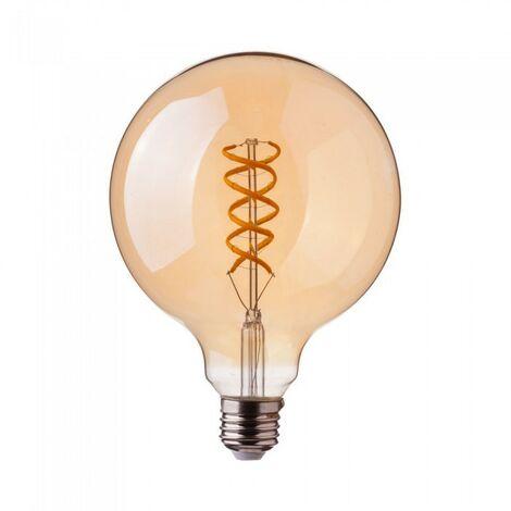 """main image of """"Ampoule LED E27 5W GLOBE Filament vintage ambrée"""""""