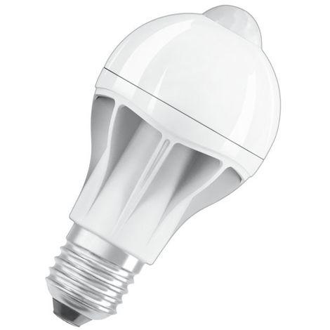 Ampoule LED E27 9W A60 détecteur de mouvement / crépusculaire OSRAM   Blanc Extra Chaud