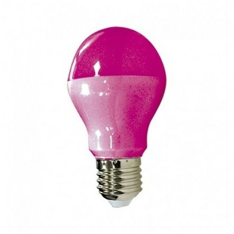 Ampoule LED E27 9W - Rose - Non dimmable - Blister