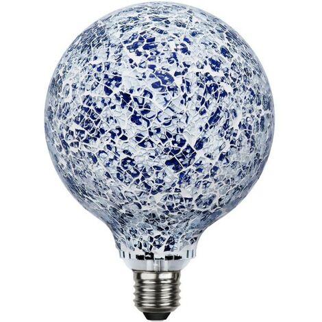 Ampoule LED E27 Déco Mosaïque bleue 4W