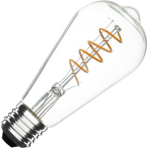 Ampoule LED E27 Dimmable Filament Spirale Big Lemmon ST64 4W Blanc Chaud 2000K-2500K