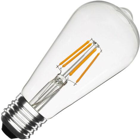 Ampoule LED E27 Dimmable Filament Transparent3 Big Lemon ST64 5.5W Blanc Chaud 2000K-2500K