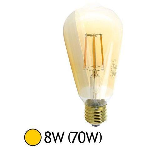 Ampoule LED E27 Edison Golden ST64 8W COB Filament
