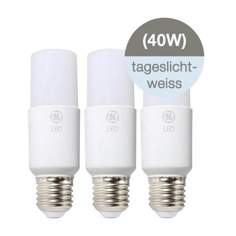 Ampoule LED E27 GE Lighting 93080246 6 W = 40 W blanc froid (Ø x L) 38 mm x 117 mm 3 pc(s)