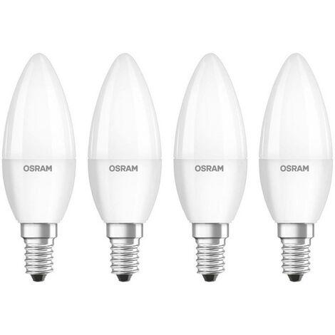 Ampoule LED E27 OSRAM 4058075819467 9 W = 60 W blanc chaud (Ø x L) 60 mm x 110 mm 4 pc(s)