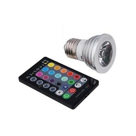 - Ampoule LED-E27-PAR16-4W-COB HP Bridgelux-RGB (IR)