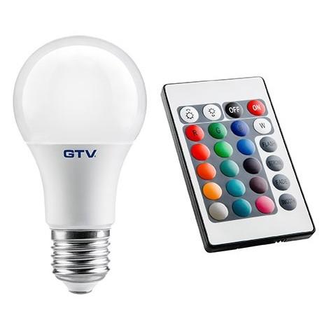 Ampoule LED E27 RVBW + Telecommande de gestion / GTV