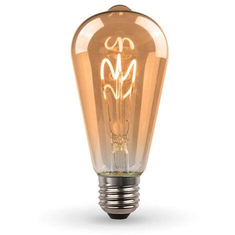 Ampoule LED E27 ST64 Ambrée Filament Déco Vintage