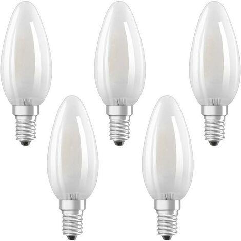 Ampoule LED en forme de bougie E14 4 W = 40 W blanc chaud X187441