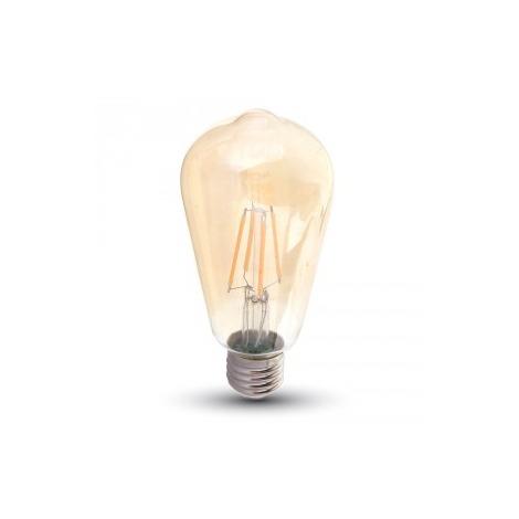 Ampoule LED Filament 8W E27 Vt-1968 - Blanc Chaud - 2200k - 300 Deg V-TAC
