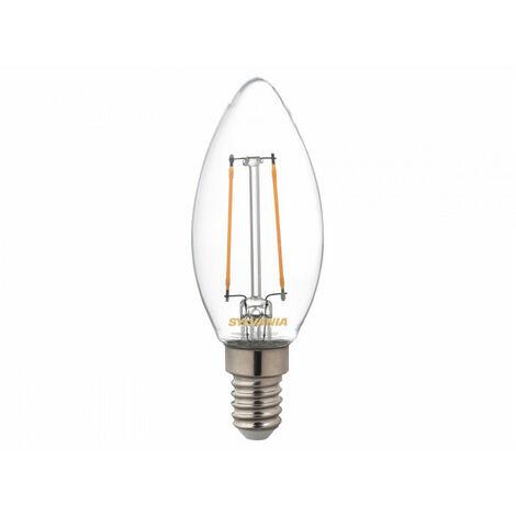 Ampoule led FLA E14 827 2,5W = 25W Cla fil SYLVANIA