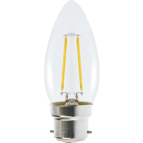 ampoule led flamme filament 4 watt q 42 watt culot b22. Black Bedroom Furniture Sets. Home Design Ideas