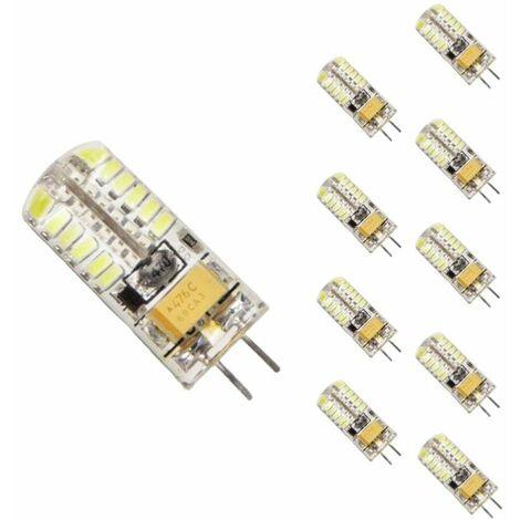 Ampoule LED G4 12V 3W SMD2835 24LED 360° (Pack de 10) - Blanc Froid 6000K - 8000K