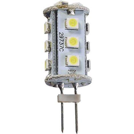 Ampoule LED G4 à 15SMD 2W 120Lm (équiv 15W) Blanc Froid 360° 12V HIPOW