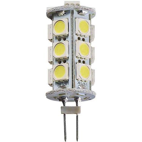 Ampoule LED G4 à 18SMD5050 3.5W 290Lm (équiv 25W) Blanc Froid 360° 12V HIPOW