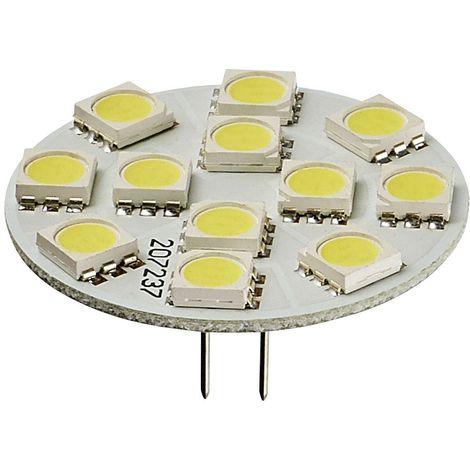 Ampoule LED G4 backpin Plat à 12 SMD5050 2W 170Lm (équiv 25W) Blanc Chaud 150° 12V HIPOW