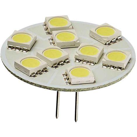 Ampoule LED G4 backpin Plat à 9 SMD5050 1.5W 150Lm (équiv 20W) Blanc Froid 150° 12V HIPOW