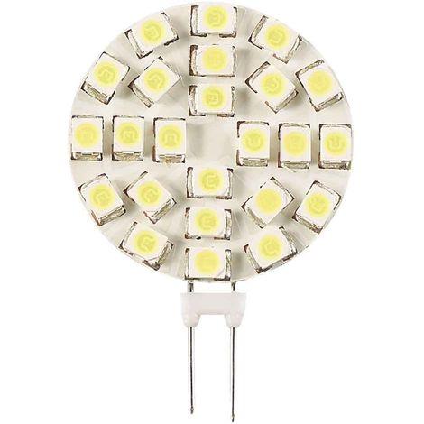 Ampoule LED G4 Plat à 18SMD3528 1.2W 120Lm (équiv 13W) Blanc Froid 120° 12V HIPOW