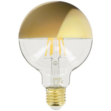 Ampoule LED G95 Gold, culot E27, 8W cons. (62W eq.), 360 lumens, lumière blanc chaud | Xanlite