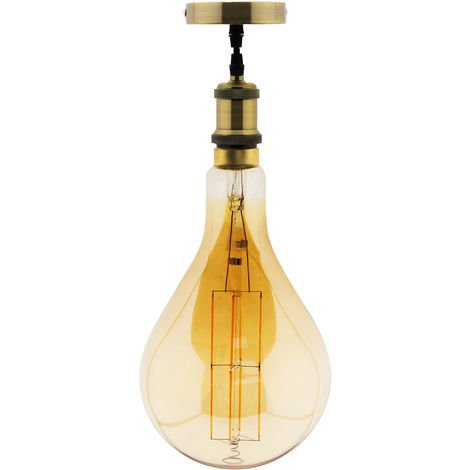Ampoule LED géante ovale avec suspension incluse - Elexity