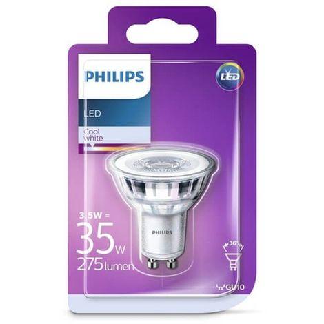 Ampoule LED GU10 3,5W/35W - 275lm - 4000K - Blanc froid - Gris