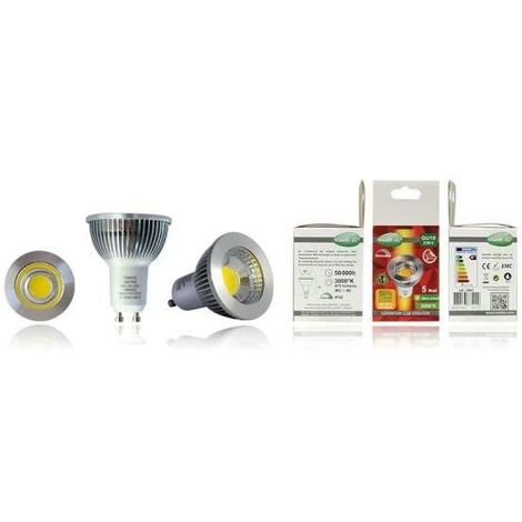 Ampoule LED GU10 5W Dimmable équivalent 45W COB