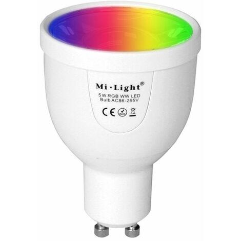 Ampoule LED Gu10 5w Rgb+cw Rf 2,4ghz Fut018cw