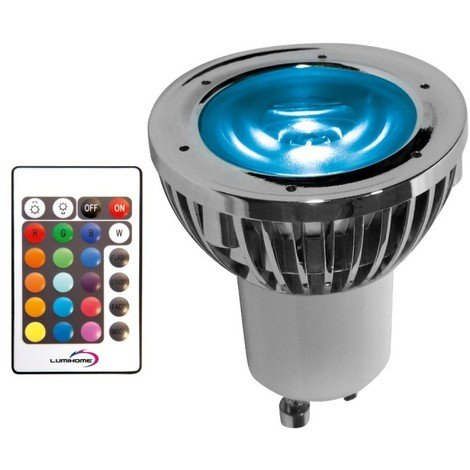 Ampoule LED GU10 5W RGB   non-dimmable