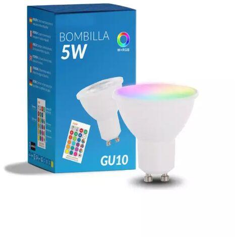 Ampoule LED GU10 5W RGB + W Future avec Télécommande RGBW   IluminaShop