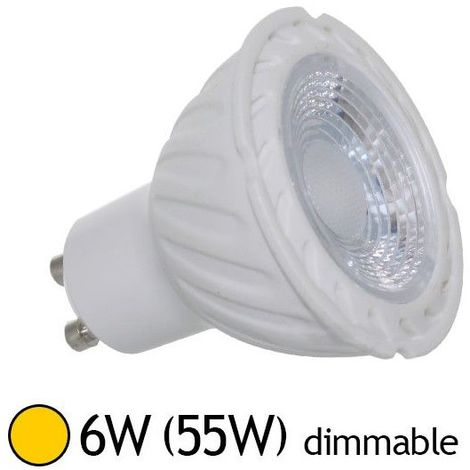 Ampoule LED GU10 6W 38° (Dimmable en option)