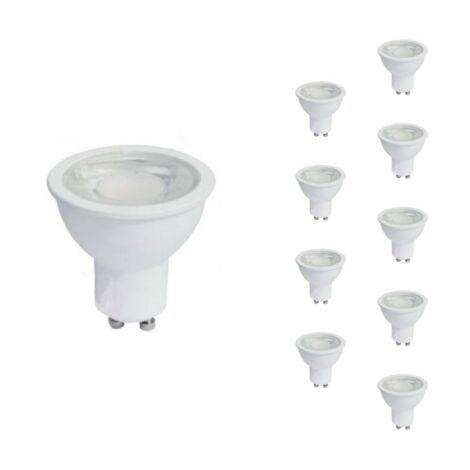 Ampoule LED GU10 8W 220V PAR16 COB (Pack de 10) - Blanc Chaud 2300K - 3500K