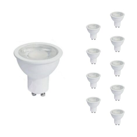 Ampoule LED GU10 8W 220V PAR16 COB (Pack de 10) - Blanc Froid 6000K - 8000K
