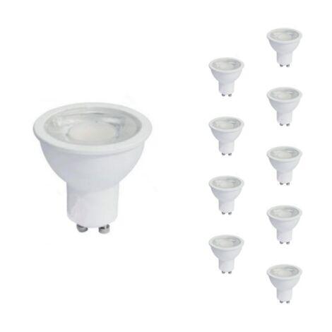 Ampoule LED GU10 8W 220V PAR16 COB (Pack de 10) - Blanc Neutre 4000K - 5500K