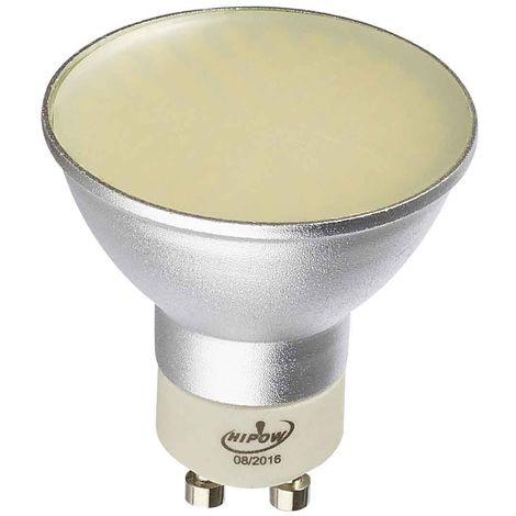 Ampoule LED GU10 à 80 SMD 5W 310Lm (équiv 30W) Blanc Chaud 120 degré HIPOW